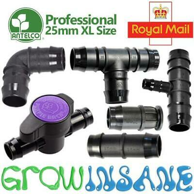 Antelco 25mm XL Large Pipe Fitting Barbed Garden Watering Irrigation Connector • 6.95£