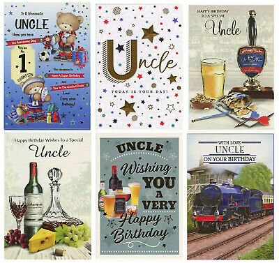 £1.95 • Buy Cute Tradtional Uncle Birthday Card Various Designs