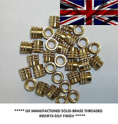 £3.15 • Buy Metric Threaded Solid Brass Barbed Inserts For Plastic,pressfit(m2.5@£12.40/100)