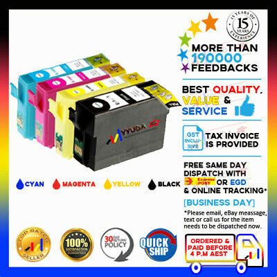 AU19.70 • Buy 8 X YYUDA Non-OEM T140 T1401-4 Ink For Epson WF-3520 3530 3540 7520 7510 7010