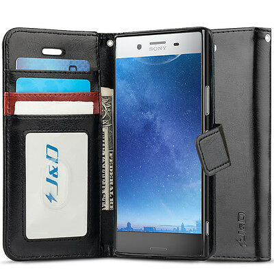 AU14.21 • Buy J&D Sony Xperia XZ Premium [Wallet Stand] PU Leather Flip Cover Wallet Case