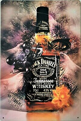 Jack Daniels Collectable Metal Plaque Tin Sign For Bar Pub Man Cave Shed Garage • 6.85£