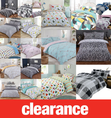 £14.95 • Buy Clearance Bedding @ Great Prices - Duvet Quilt Cover Bed Sets REDUCED All Size