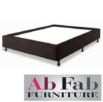 AU299 • Buy Double Ensemble Bed Base Frame Only - Assembled - Australian Made In Black