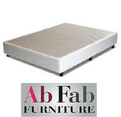 AU299 • Buy Double Ensemble Bed Base Frame Only - Assembled - Australian Made In White
