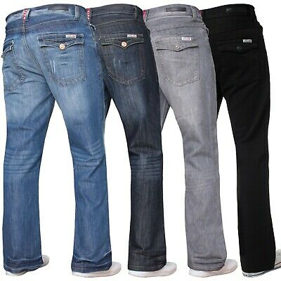 £17.49 • Buy Mens Bootcut Jeans Wide Leg Flared Denim Trousers Pants All Waists Sizes W28-50
