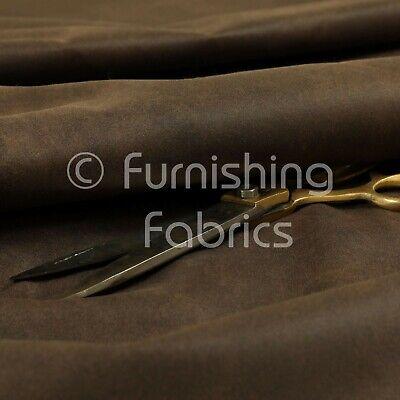 £0.99 • Buy Soft Quality Durable Faux Suede Feel Leather Brown Furnishing Upholstery Fabric