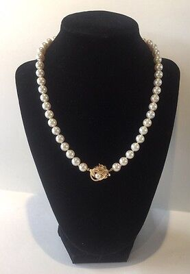 $599.99 • Buy Vintage 14k Yellow Gold Freshwater 8mm Pearl Necklace Choker 18