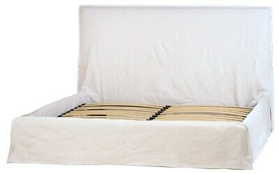 $ CDN3863.19 • Buy 85  Lucilla Bed And Headboard Queen Birch Wood Frame 100% Linen Slip Cover