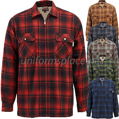 Wolverine Flannel Jacket Mens Plaid MARSHALL SHIRT Sherpa Fleece  Lined Jacket • 30.88£