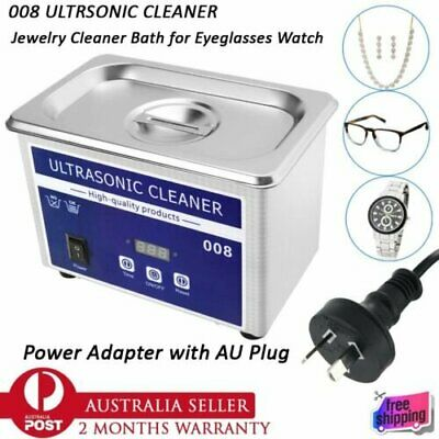 AU89.90 • Buy 800mL Digital Ultrasonic Cleaner Bath Stainless Jewelry GlassCleaning Equipment