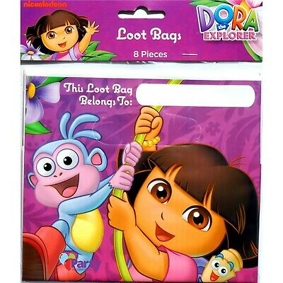Dora The Explorer Loot Bags X 8 Girls Birthday Party Lolly Favours Supplies • 2.76£