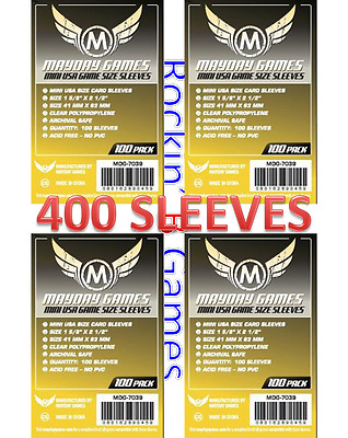 $6.99 • Buy Mayday Games Mini USA Size Sleeves (4x100 Pack, 400 Sleeves) MDG-7039