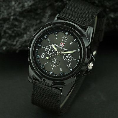 AU12.95 • Buy BLACK MENS SWISS MILITARY ARMY WATCH Sports Water Resistant Silver Gold Womens