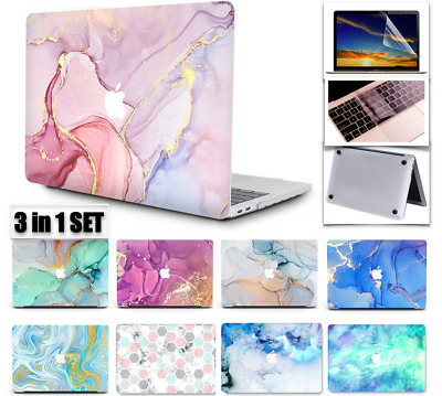 AU25.99 • Buy AU EXPRESS 3 In1 SET MacBook Air 13 Inch Case 2020 Pro 13 Inch Marble Hard Shell