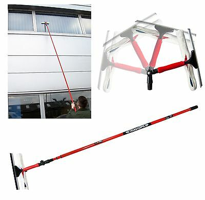 3.5m Telescopic Conservatory Window Glass Cleaning Cleaner Kit With Squeegee New • 12.85£