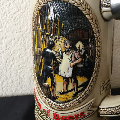 $ CDN41.13 • Buy  Vintage Anheuser Busch Budweiser King Of Beers Stein Pewter Lid Series D