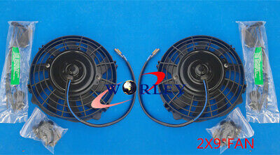 AU67.50 • Buy 2* 9 Inch 12 V Thermo Radiator Cooling Electric Fan+ Mounting Kits