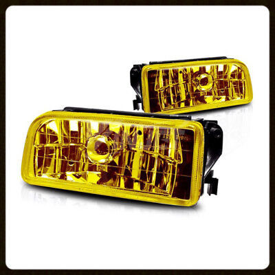 $38.95 • Buy 1992-1998 Bmw E36 3 Series Oem Replacement Fog Lights Lamps Crystal Yellow Lens