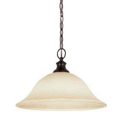 $ CDN78.22 • Buy Sea Gull Lighting 65496-710 Burnt Sienna Park West 1 Light Full Sized Pendant
