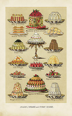 Sweet Dishes Large Metal Tin Sign Poster Wall Plaque Vintage Ad • 14.99£