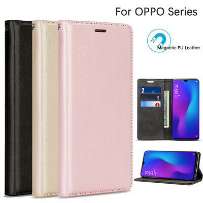 AU13.99 • Buy OPPO AX5s/AX7/A73/R17 Pro/R11/R9s Plus/Reno 2 Z Case Cover PU Leather Wallet