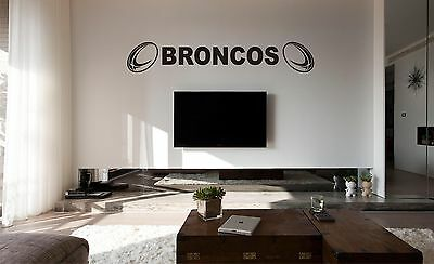 £19 • Buy LONDON BRONCOS Rugby Wall Art Sticker, Decal, Any Flat Surface, Car Vinyl, Glass
