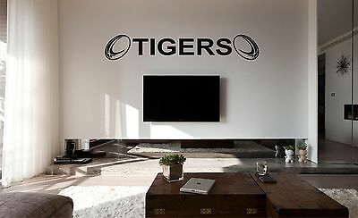 £19 • Buy LEICESTER TIGERS Rugby Wall Art Sticker, Decal, Flat Surfaces, Car Vinyl,Glass