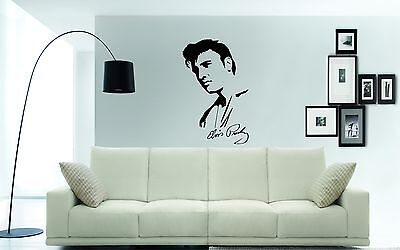 ELVIS PRESLEY Wall Art Sticker, Decal, Mural, Includes Autograph 85 X 55cms • 15£