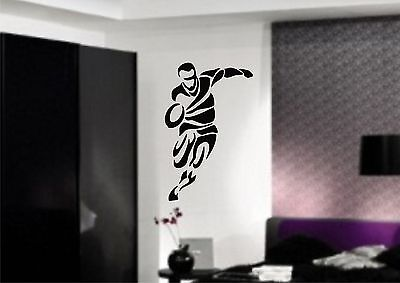 £22 • Buy RUGBY PLAYER Wall Art Sticker, Decal, 3 X Sizes, Mural, Transfer, Vinyl - NEW