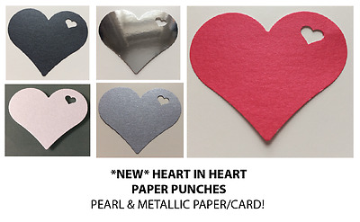 £1.25 • Buy HEART In Heart EMBELLISHMENTS  Paper Punches MULTI LISTING! 30 Pieces