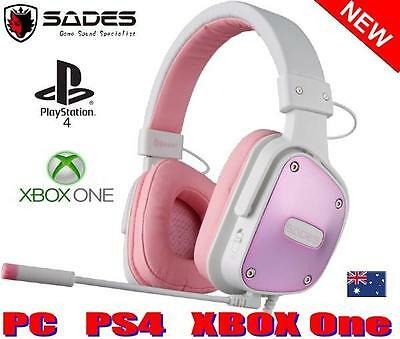 AU43 • Buy SADES DPOWER XBOX One Gaming Headset Mic Chat BRAND NEW Genuine PINK Girls