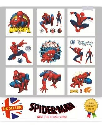 £6.49 • Buy 50 Childrens Spiderman Temporary Tattoos Kids Loot Party Bag Fillers Boys Girls