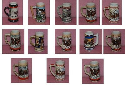 $ CDN212.45 • Buy 12 Vintage Budweiser Stein Lot With Bonus Miller Stain.