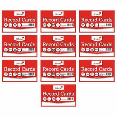 £3.29 • Buy Revision Flash Index Silvine Record Cards White/Coloured/Plain/Ruled Free P&P
