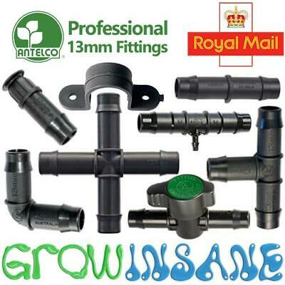 Antelco 13mm Tee Elbow Hose Fitting Garden Irrigation Pipe Connector • 3.35£