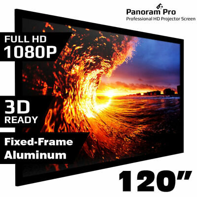 AU245.95 • Buy 120  Inch Fixed Aluminum Frame Projector Screen Home Theatre HD TV Projection 3D