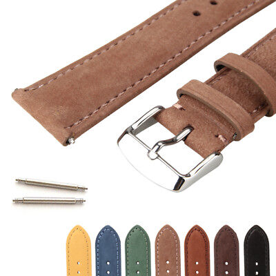 Universal Genuine Cowhide Leather Replacement Watch Strap Watch Band Men Women • 3.99£