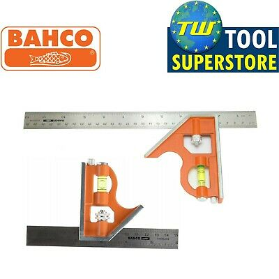 Bahco CS150 CS300 Combination Square Set 6in 150mm & 12in 300mm Twin Pack • 18.50£