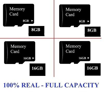AU6.24 • Buy Full Capacity Micro SD 8GB OR 16 GB SDHC Memory Card Mobile Phone Tablet Camera