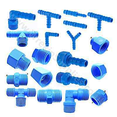 Nylon Barbed Silicone Hose Connector Tefen Fuel Pipe Joiner Water 14 Bar Water • 3.60£