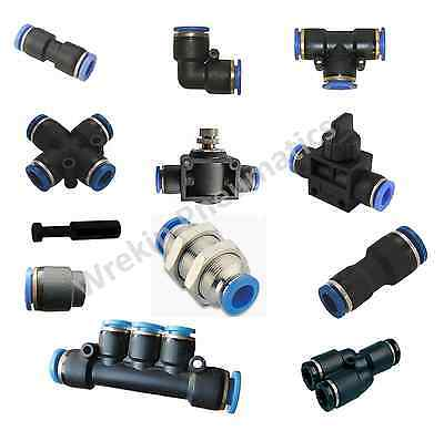 £2 • Buy Pneumatic Push In Fittings Air Water Hose Tube Stem NYLON SPEED JOIN ADAPTER TEE