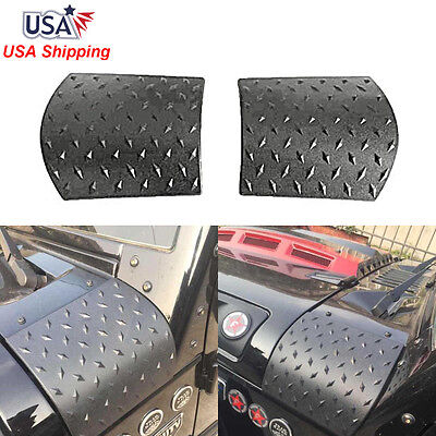$12.79 • Buy Pair Black Cowl Body Armor Cowling Cover For 07-18 Jeep Wrangler JK & Unlimited