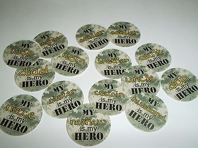 £3.13 • Buy Pre Cut One Inch Bottle Cap Images Camo Military Hero  Free Shipping