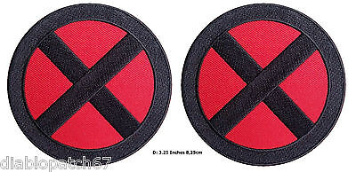 £7.25 • Buy Set Of 2 X-men Storm Red/black X Applique Costume Cosplay Patches