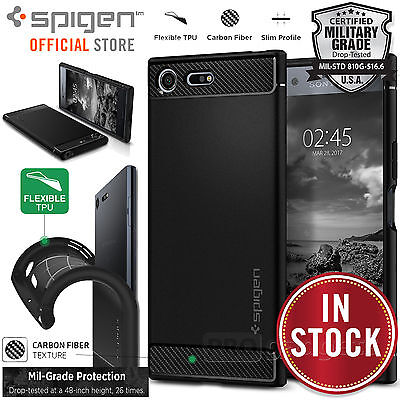 AU19.99 • Buy Genuine Spigen Rugged Armor Resilient Soft Cover For Sony Xperia XZ Premium Case