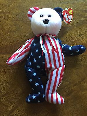 $750 • Buy  Spangle  Ty Beanie Baby Authentic - 1999 Patriotic USA Style Rare Teddy Bear