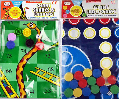 Giant Ludo Or Giant Snakes & Ladders Game Traditional Family Out Door Game Gift • 5.99£