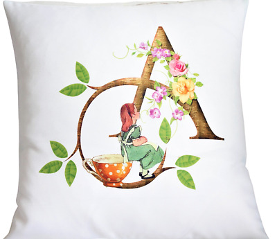 £6.50 • Buy Personalised Alice In Wonderland Initial - 16  White Cushion Cover Shabby Chic