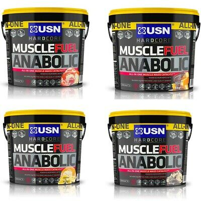 USN Muscle Fuel Anabolic All In One Muscle Mass Gainer Protein Powder 4Kg • 50.99£